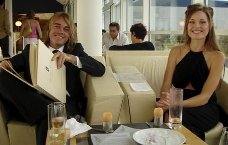 Chef Shannon Bennett and his wife, actress Madeleine West.