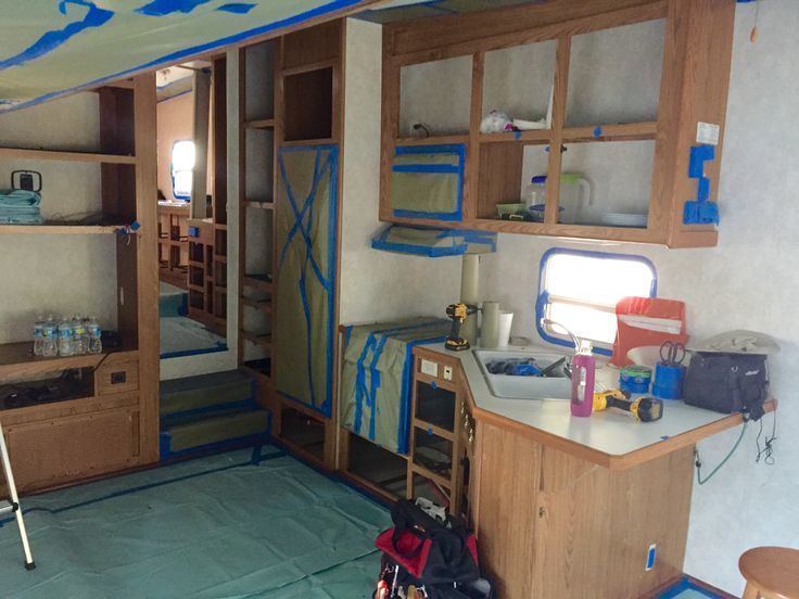 How to Paint Camper Interior | TheNoshery.com @TheNoshery #dreamsmallproject