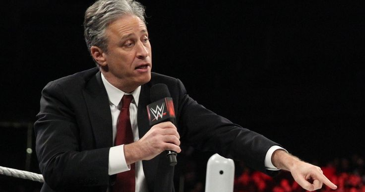 Jon Stewart Will Host WWE SummerSlam 2015 -- Jon Stewart's first retirement plans include hosting the WWE's SummerSlam on Sunday, August 23. -- http://movieweb.com/jon-stewart-wwe-summerslam-2015-host/