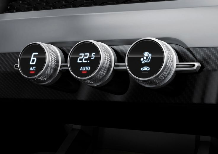 Audi Crosslane Coupe Concept AC Controls