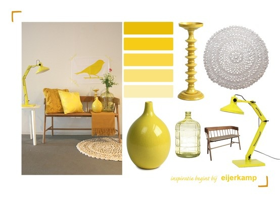 Met geel geef je een vrolijke touch aan je interieur! Styling & Fotografie - Demelza Krens ♥ Eijerkamp