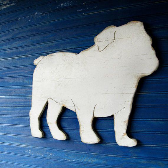 English Bulldog Sign Dog Home Decor by SlippinSouthern on Etsy