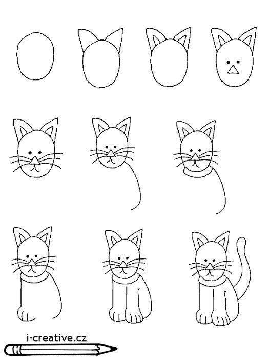 jak namalovat kočku