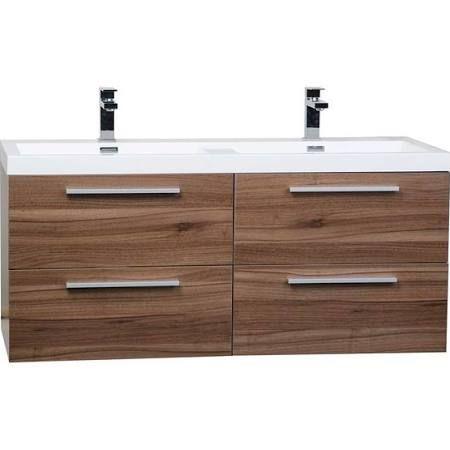walnut floating bathroom vanity google search