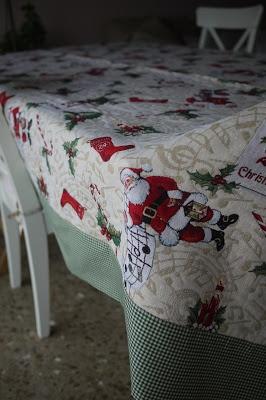 Mantel Navidad Papá Noel