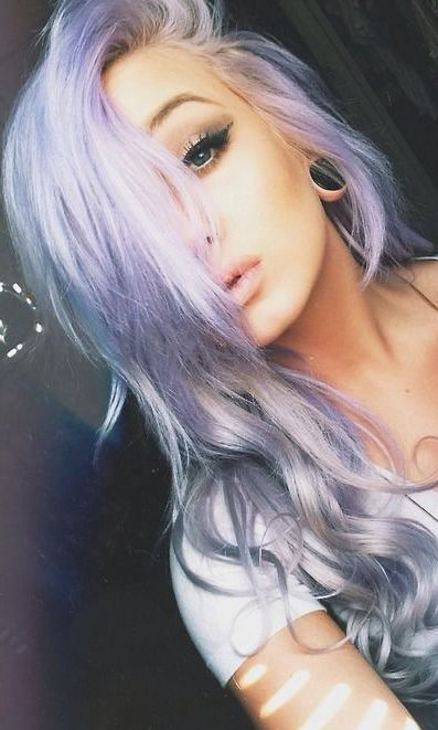 lilac ombre hair