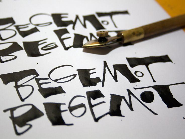 Best ruling pen brush lettering images on pinterest