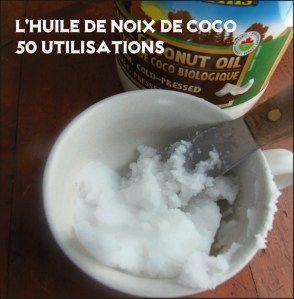 50 utilisations huile de noix de coco