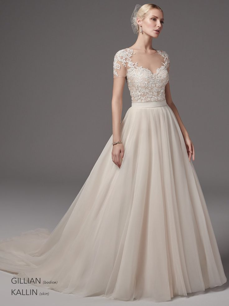 So romantic! Beautiful bridal separates by Sottero and Midgley.