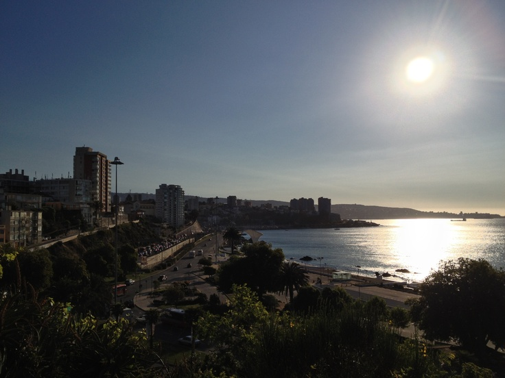 Atardecer, vista desde Cerro Castillo... Viña del Mar, Chile...