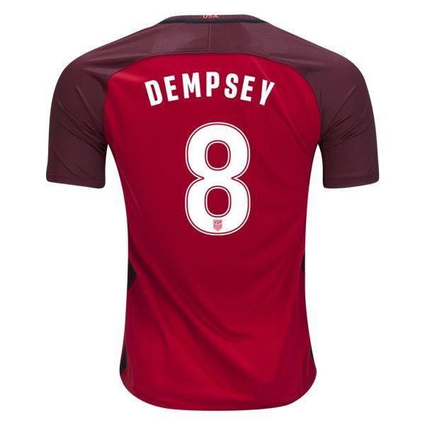 Nike Clint Dempsey USA Third Jersey 2017 (Red)