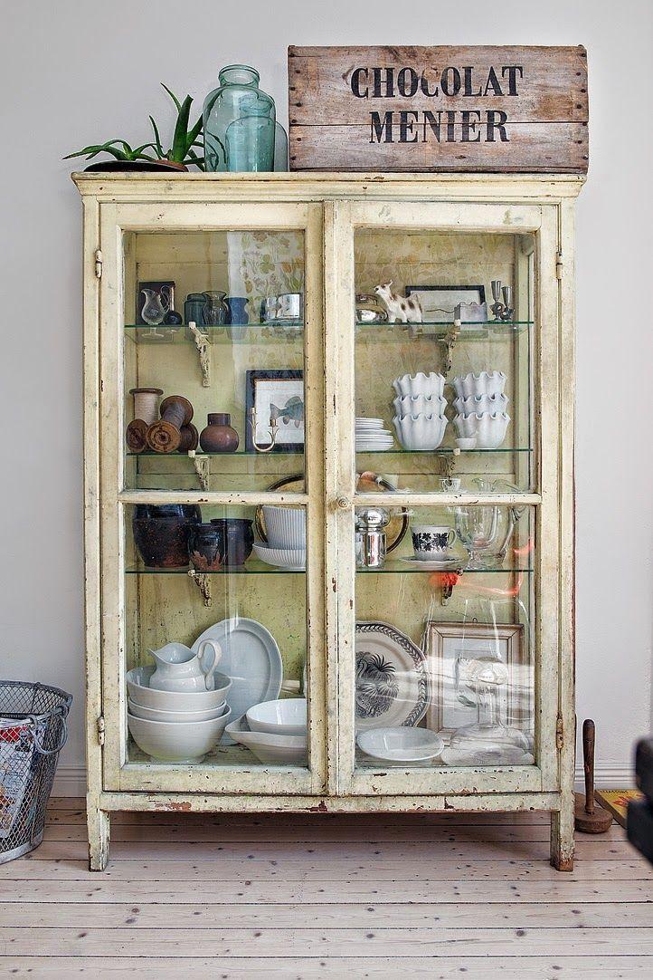 M s de 25 ideas incre bles sobre estanter a con puertas de - Cristales puertas salon ...