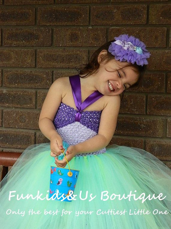"Little Mermaid inspired ""Ariel"" Tutu Dress Newborn to Girl, Under the sea photoprop, birthday,"