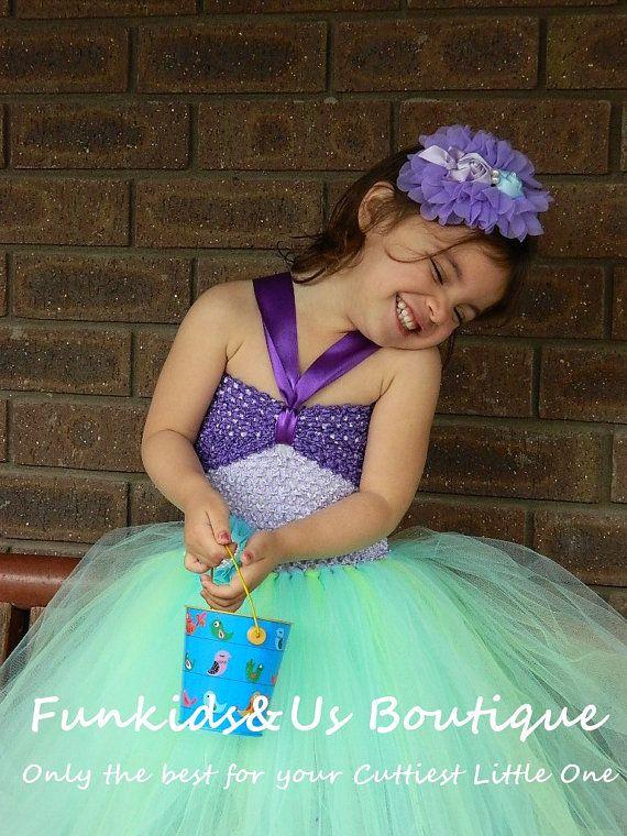 "Little Mermaid inspired ""Ariel"" Tutu Dress Newborn to Girl, Under the sea photoprop, birthday,"