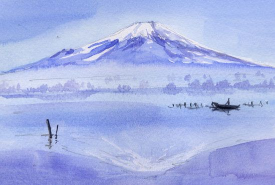 Fujisan - Mt. Fuji  / Today's Water Color