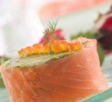 Recette - Rouleau de saumon fumé à l'avocat - Proposée par 750 grammes