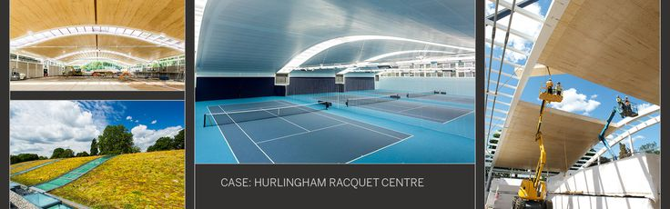 Racquet Centre roof with wood elements