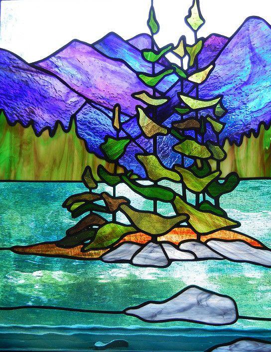 Vitrales de Calgary |  paisajes |  Del vitral de Rhonda