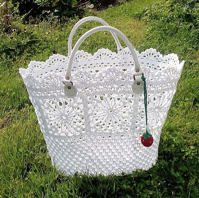 Patrón de bolsa en ganchillo   -   Crochet bag pattern