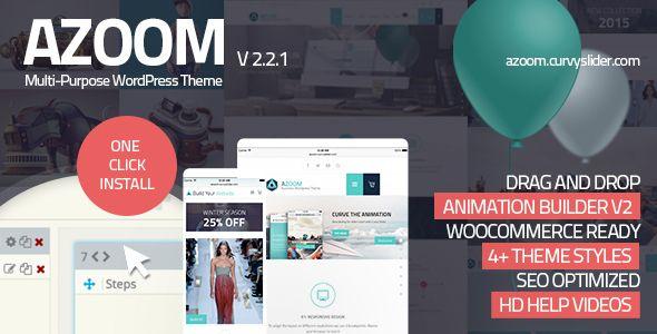 Azoom   Multi-Purpose Theme with Animation Builder   WordPress