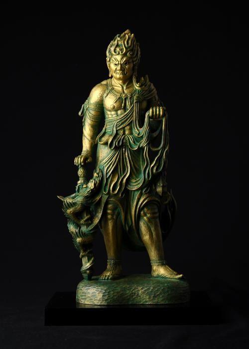 不動明王 - 総高30cm 原型・松久宗林 蝋型 高岡銅器
