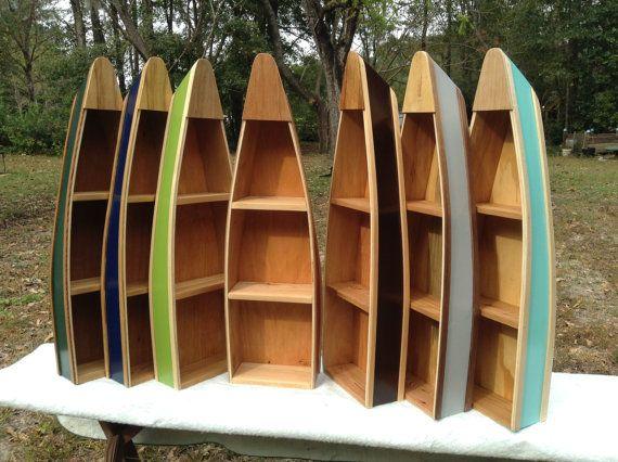 Wooden Row Boat Shelf Boat Shelf Nautical by RabonRiverRunners