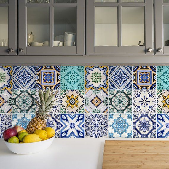 Traditional Spanish Tile Decals Tile Stickers Set Spanish