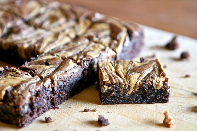 Peanut Butter Swirl Brownies 003 by Hungry Housewife, via Flickr