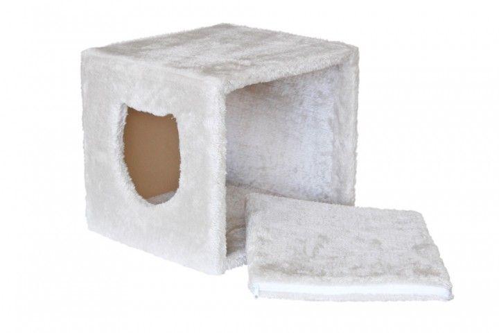 Ikea Expedit Regaleinsatz als Katzenhöhle. Der ideale Rückzugsort für deine Katze, der sich ganz leicht in das Regalfach einschieben lässt.