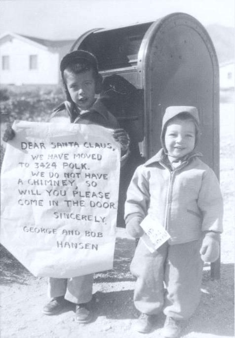 Letter to Santa - vintage Christmas photo --These kids look like a photo of my husband and his brother