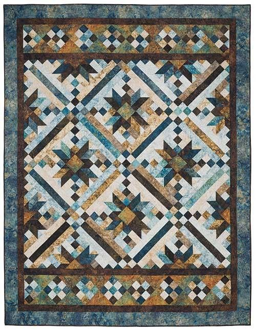 Smokey River Blue Planet Quilt Kit Keepsake Quilting