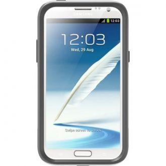 Pancerne zabezpieczenie Samsung Galaxy Note 2 to właśnie OtterBOX Commuter Series. Etui nie tylko pełni rolę ochronną przed zarysowaniami, ale dzięki swojej konstrukcji składającej się z dwóch elementów (silikon+plastik) idealnie amortyzuje wszelkiego rodzaju upadki. Silikon absorbuje uderzenie a solidny, twardy plastik ABS osłania telefon.  Etui w kolorze białym.