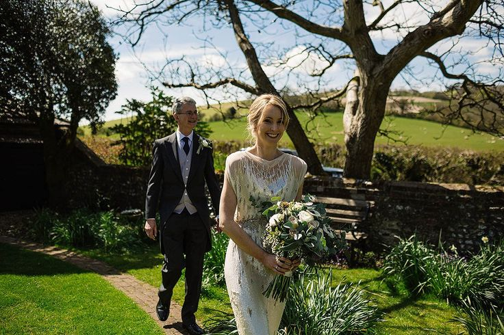 Sparkling Jenny Packham Glamour and Scottish Kilt Colours for a Barn Wedding in West Sussex