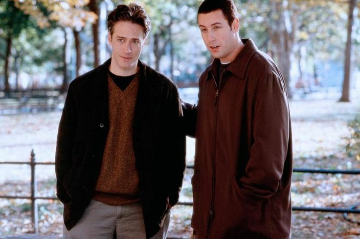 "Jon Stewart and Adam Sandler in the movie ""Big Daddy"""
