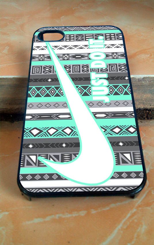 Nike Just do it aztec mint  for iphone 4/4s/5/5c/5s/6, samsung galaxy s3/s4/s5, and ipod 4/4 touch/5