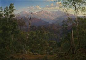 Mount Kosciusko, seen from the Victorian border (Mount Hope Ranges) - Eugene von Guerard