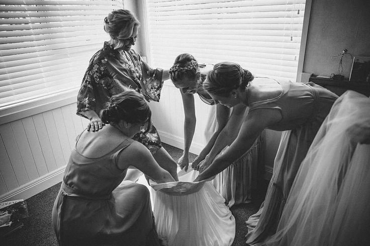 Behind the scenes with my lil  sis Donna and her maids (me included!) We're all wearing VICTOR style Phoebe {Luxe} ✨ Photo by @_skyecarter_ ♡♡ . . .                            (  @victorbridesmaid via @latermedia )