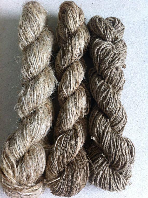 organic yarn - nettle + hemp + linen - 3 x 100 g