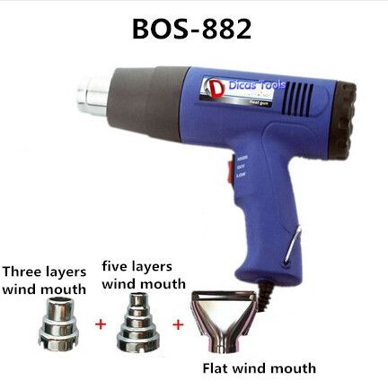 46.70$  Watch here - http://ali9b8.worldwells.pw/go.php?t=32360378208 - free shipping 240V 1500W heat gun electric hot air gun industrial drying gun hot air blower plastic welding torch BOS-882 46.70$