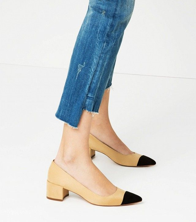 Zara toe-cap two-tone pumps.  So happy I just ordered these! Perfect for nearly any conceivable occasion.