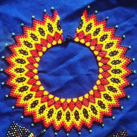 Collar de sol Siente la energía solar, #embera #chami Sun nechlace Feel solar, #artesaniasdecolombia #risaralda #risaralda #arte_of_nature #arteembera #brazil #cartagena