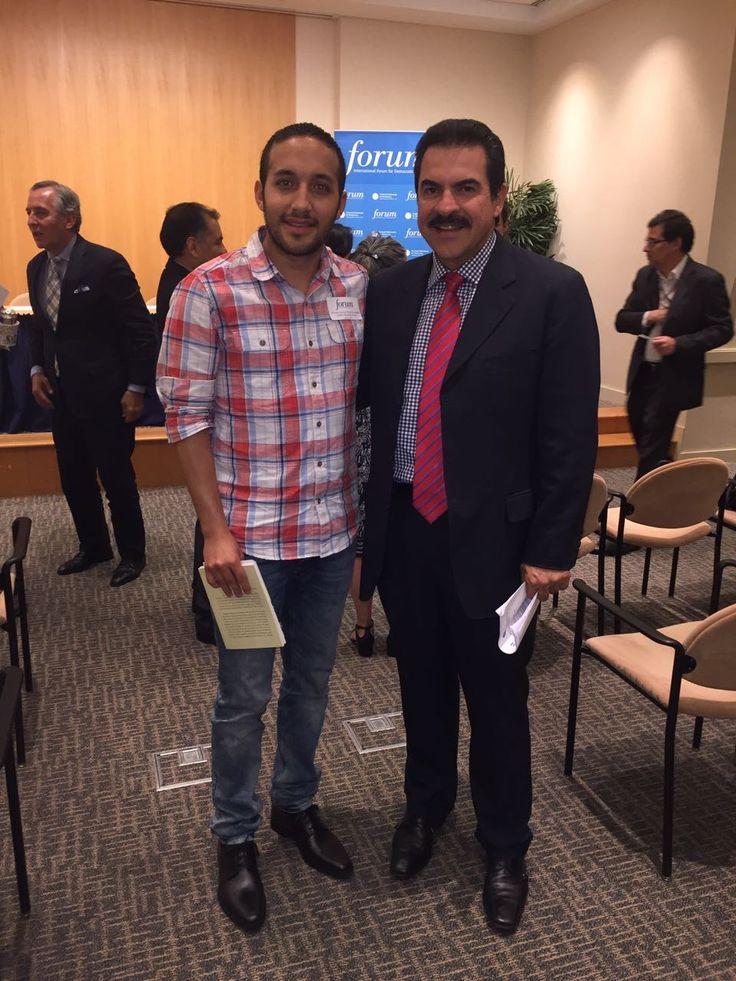 Con Manfred Reyes Villa ex alcalde de Cochabamba y candidato a Presidente de Bolivia