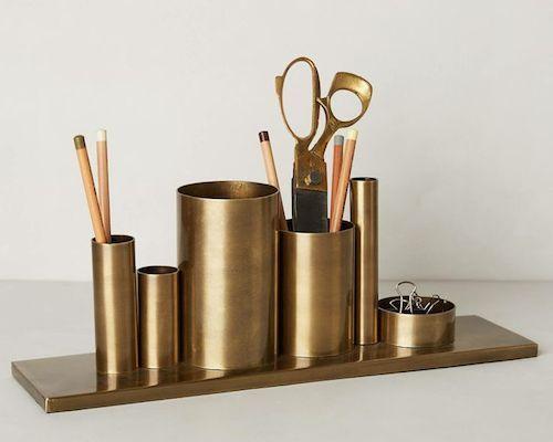 Gold desk accessories @luluandgeorgia  #RackedLuluGeorgia