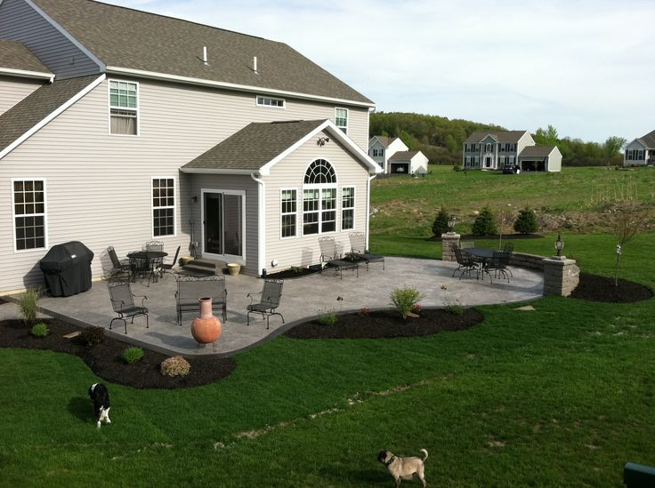 Nucrete – Stamped Concrete Patio With Pergola