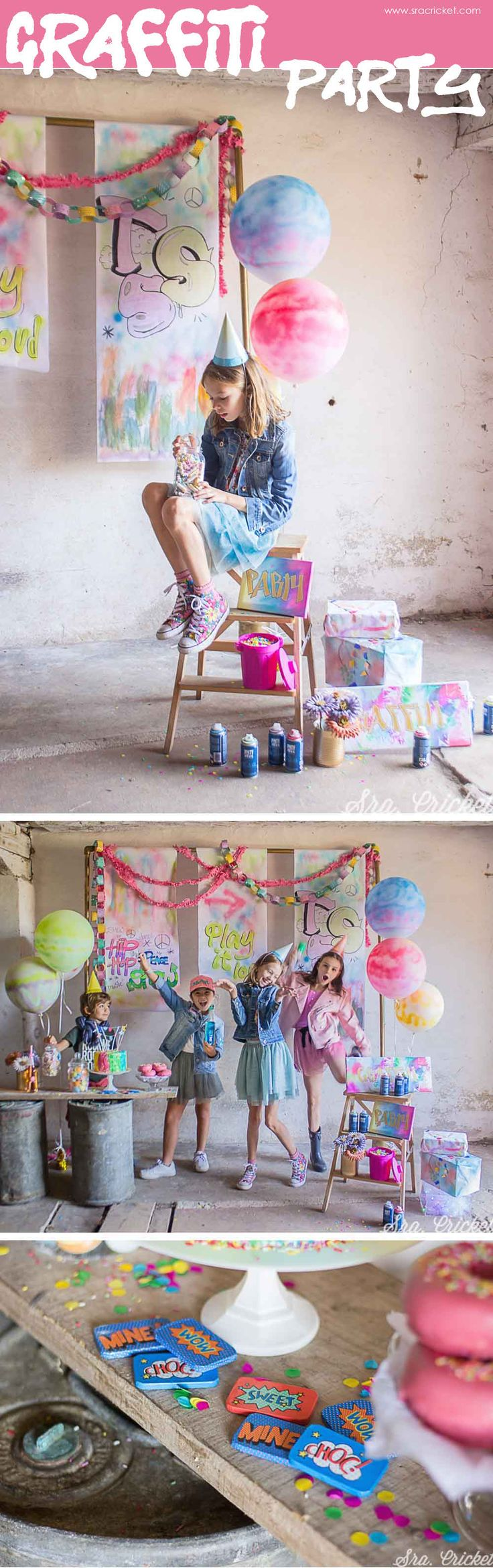 Graffiti Party #party #decoration #kidsparty Fiesta tematica infantil #fiestasinfantiles #fiestatematica #graffiti #party #fiestasparaniños Party Crafts, Diy Crafts, Diy Y Manualidades, Graffiti Painting, Diy Pins, Paint Party, Cricket, Celebrations, Party Ideas