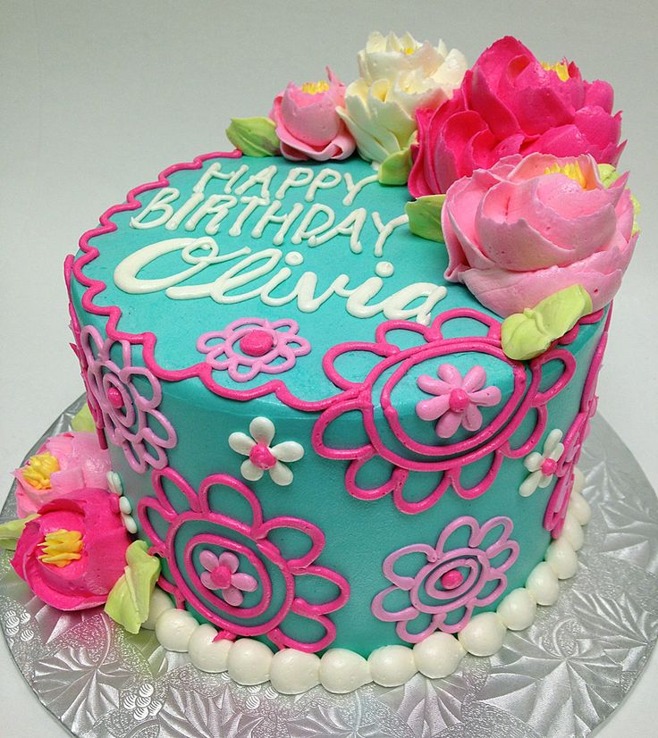 The Olivia Buttercream Birthday Cake