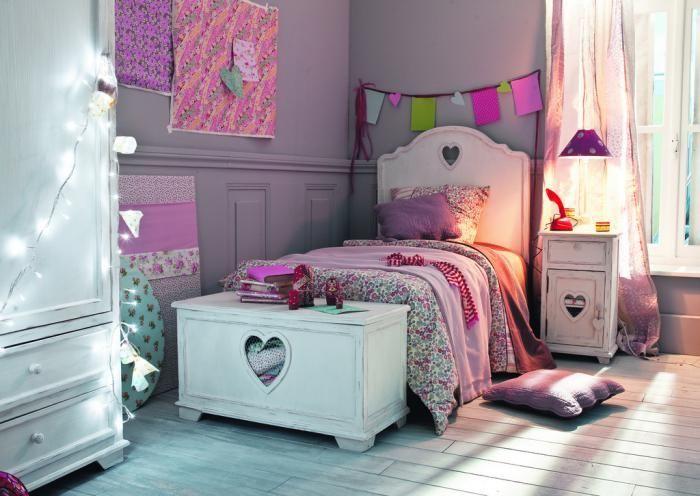 chambre violette, déco de chambre fille ado   Idees deco ...
