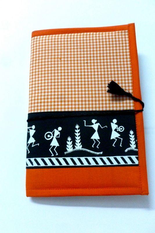 Warli Print Cotton Notepad Cover With Notepad (Dori Wrap)  #filefolder #craftshopsindia