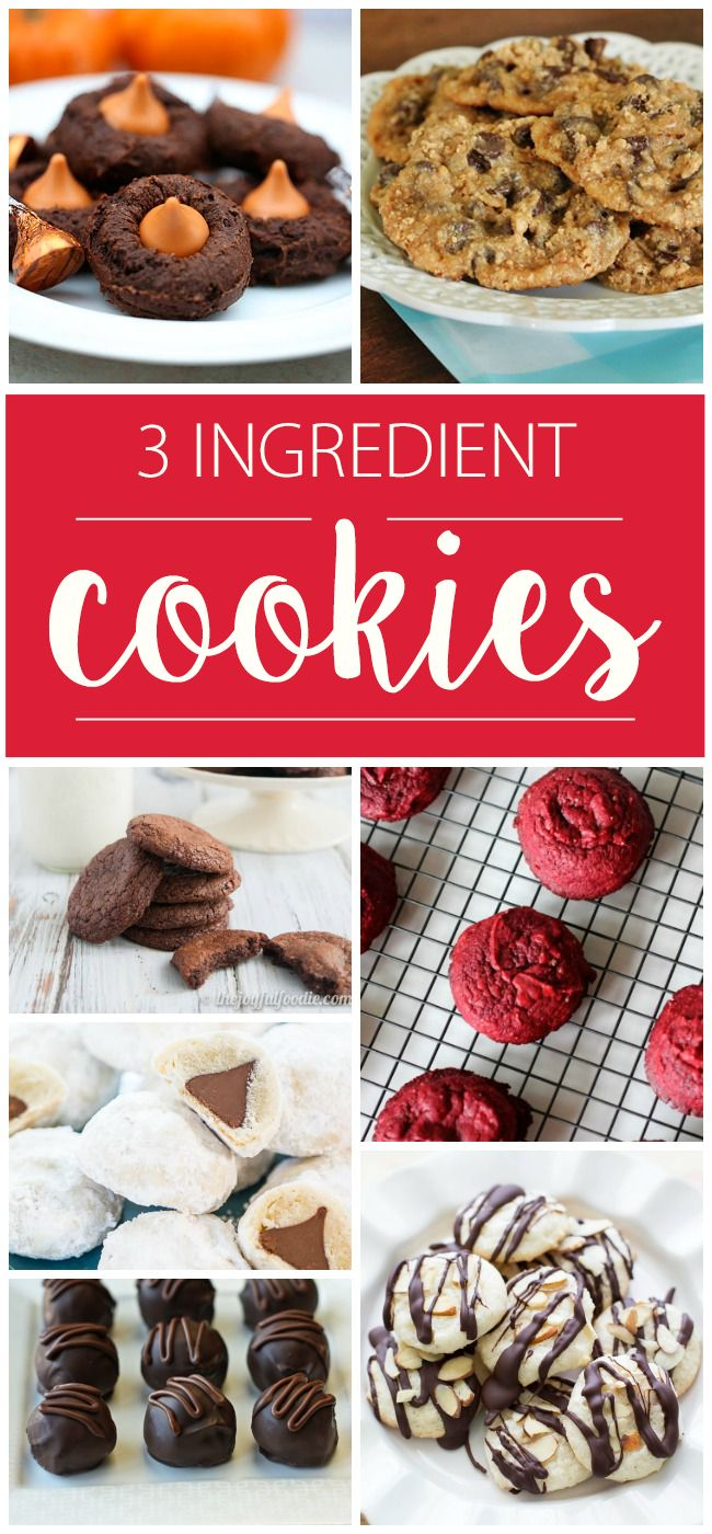 Don't have much time to bake? Here are cookies that take 3 ingredients or less!