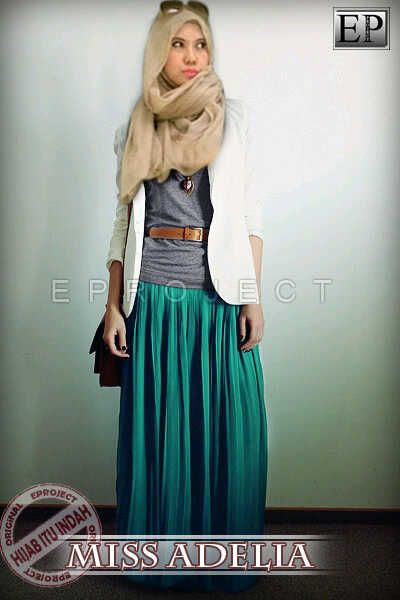 Baju Maxi Adelia Set dan Pashmina